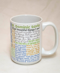 Saint Dominic Savio Quote Mug