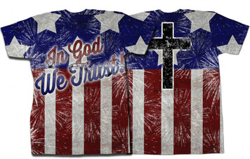 In God We Trust Graphic Poly T Shirt
