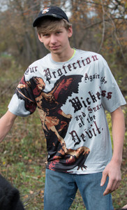 St. Michael Graphic Poly T Shirt