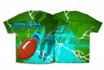 """""""Doing It All"""" Football Graphic Poly T Shirt"""