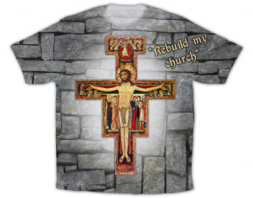 San Damiano Graphic Poly T Shirt