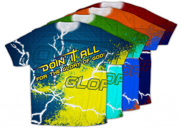 """""""Doing It All"""" Graphic Poly T Shirt"""