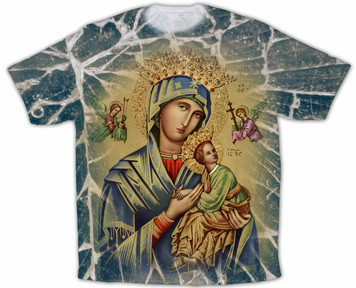 Our Lady of Perpetual Help Graphic Poly T Shirt
