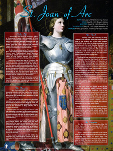 Saint Joan of Arc Explained Poster