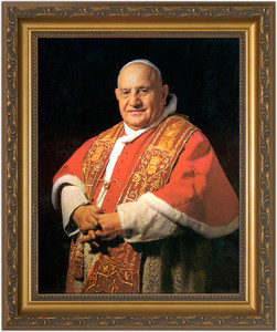 Pope John XXIII Sainthood Framed Canvas Portrait