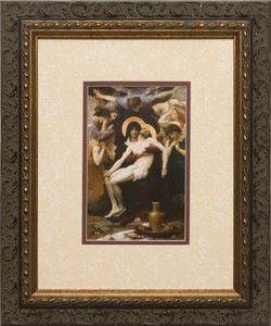 La Pieta Matted - Ornate Dark Framed Art