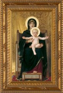Virgin and Child - Ornated Gold Framed Art