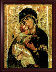 Our Lady of Vladimir - Cherry Framed Matted Image