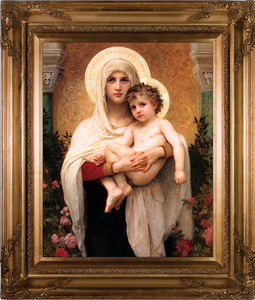 Madonna of the Roses Canvas - Gold Museum Framed Art