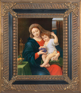 Madonna of the Grapes Canvas - Ornate Museum Framed Art