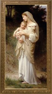 L'Innocence Canvas - Ornate Gold Framed Art