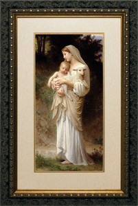 L'Innocence Matted - Ornate Dark Framed Art