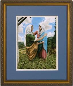 The Visitation II by Jason Jenicke Matted - Standard Gold Framed Art