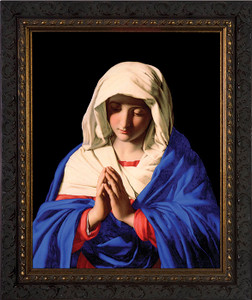 Madonna in Prayer - Ornate Dark Framed Art