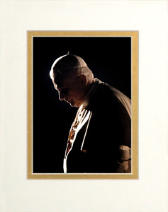 Pope Benedict in Prayer Matted - No Frame Image