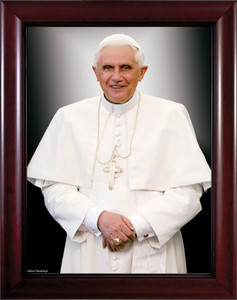 Pope Benedict Formal - Cherry Framed Art