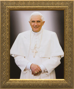 Pope Benedict Formal - Gold Framed Art