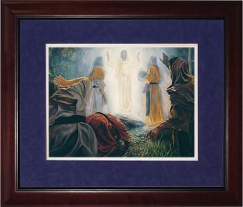 Transfiguration by Jason Jenicke Matted - Cherry Framed Art