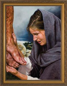 Mary's Sorrow by Jason Jenicke Standard Gold Framed Art