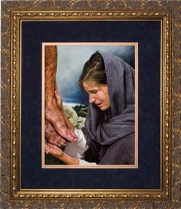 Mary's Sorrow by Jason Jenicke Matted - Ornate Gold Framed Art