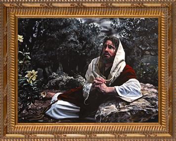 Agony in the Garden by Jason Jenicke - Standard Gold Framed Art