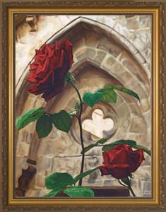Roses by Jason Jenicke - Standard Gold Framed Art