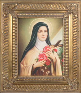 St. Therese of Lisieux Canvas - Gold Museum Framed Art