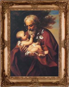 St. Joseph (Older) Canvas - Gold Museum Framed Art