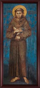 St. Francis Full Length Canvas - Cherry Framed Art