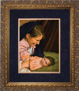 Joy of Mary by Jason Jenicke Matted - Gold Framed Art