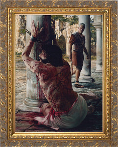 Scourging at the Pillar - Gold Framed Art