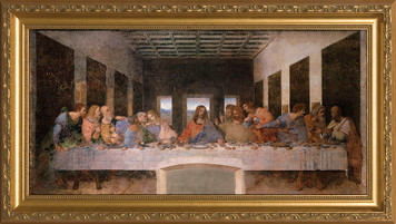 Last Supper by Da Vinci - Standard Gold Framed Art