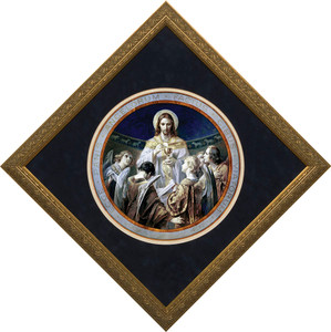Christ, Bread of Angels Matted - Ornate Gold Framed Art