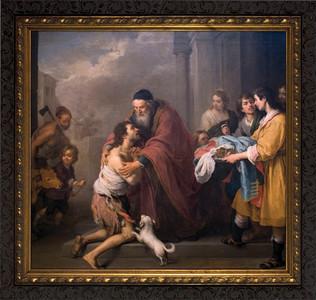Prodigal Son by Murillo - Ornate Dark Framed Art