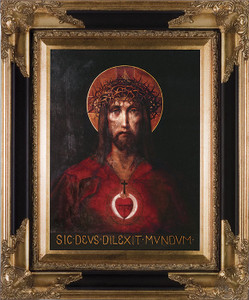 For God So Loved The World Canvas - Dark Museum Framed Art