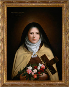 Saint Therese by Leonard Porter - Ornate Gold Frame