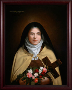 Saint Therese by Leonard Porter - Cherry Frame