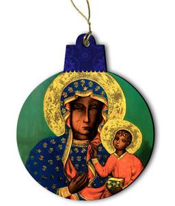Our Lady of Czestochowa Wood Ornament