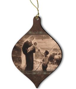 Gift of the Shepherd Wood Ornament