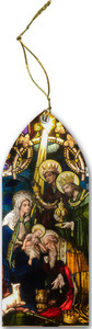 Wise Men Stained Glass Wood Ornament