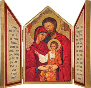 Holy Family Icon Triptych Plaque