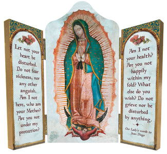 Our Lady of Guadalupe Triptych Plaque