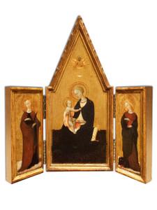 Madonna by Sassetta Triptych Plaque