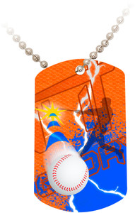 """Doing It All"" Baseball Dog Tag"