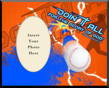 """""""Doing It All"""" Baseball Photo Frame"""