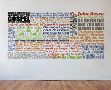 Saint John Bosco Quote Wall Decal