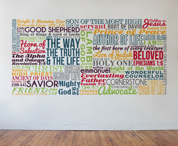 Names of Christ Wall Decal