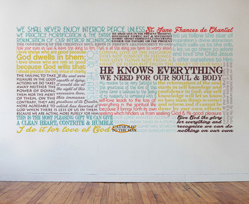 Saint Jane Frances de Chantal Quote Wall Decal