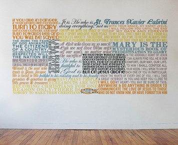 Saint Frances Xavier Cabrini Quote Wall Decal