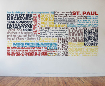 Saint Paul Quote Wall Decal